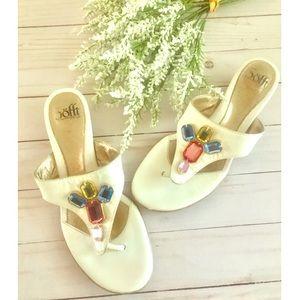 Sofft Vintage Jeweled Flip Flop Sandals